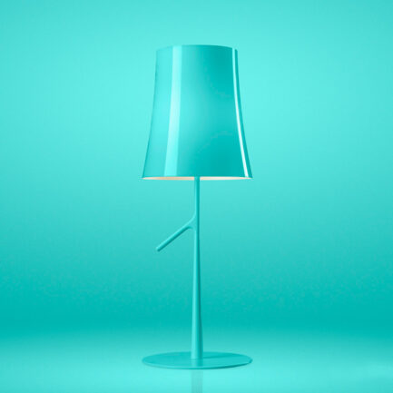 Birdie table lamp by Foscarini in Aqua Green color