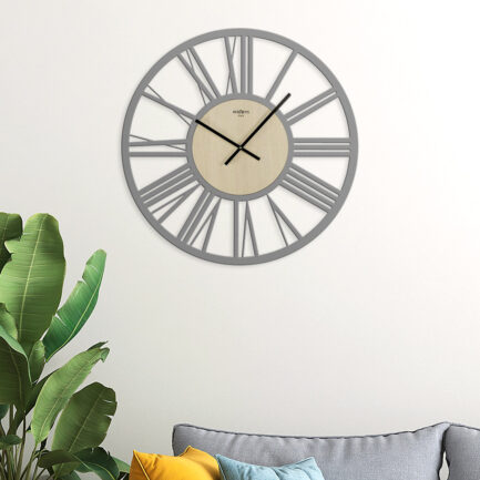 Large IMPERIAL wall clock by RexArtis in light gray color