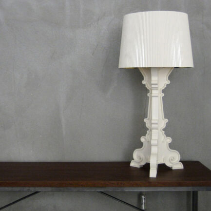 Bourgie table lamp by Kartell in white and gold color