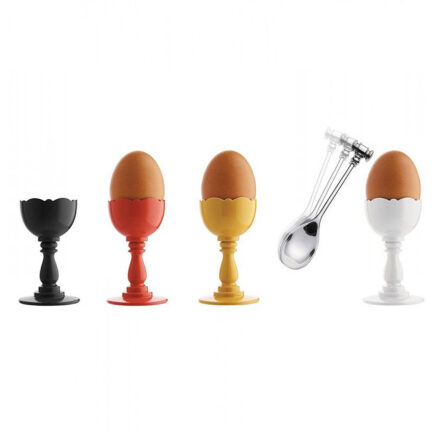Egg cup with spoon Dressed by Alessi