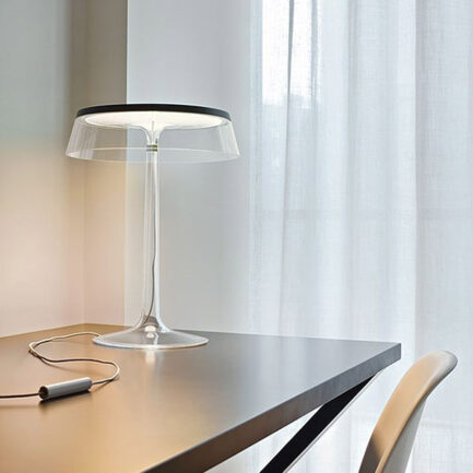 Bonjour table lamp by Flos with black detail