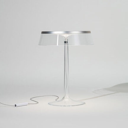Bonjour table lamp by Flos with particular silver