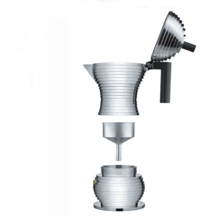 exploded view of the Pulcina coffee maker Alessi