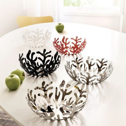 Mediterraneo collection of Alessi, fruit bowls and salad bowls