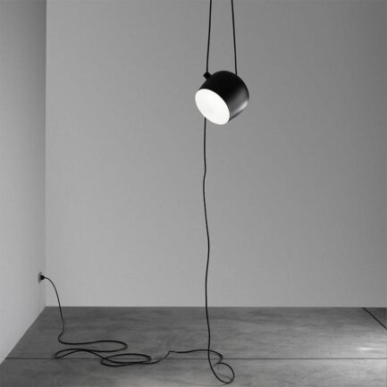 hanging lamp with aim plug of Flos black colour