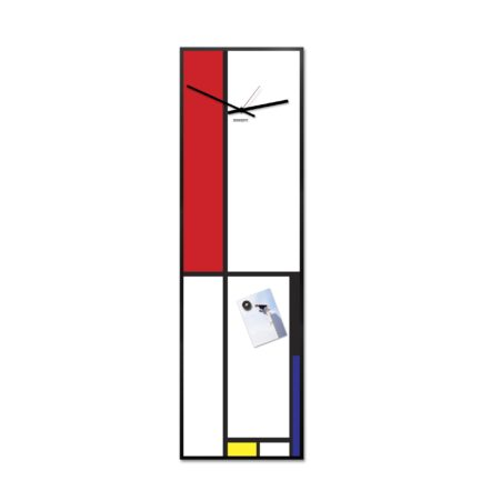 MONDRIAN vertical wall clock by designobject