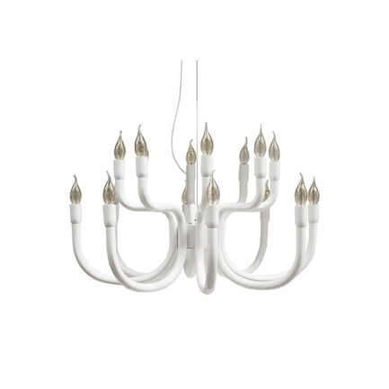 Snoob modern baroque style chandelier by karman in white color and size of 73 cm