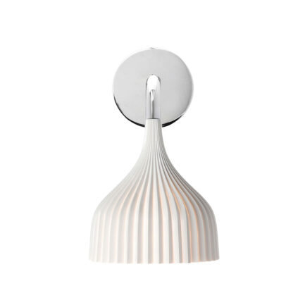 Bedroom wall light E 'di collection Kartell with opaque white pleated diffuser