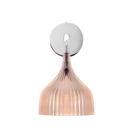 Bedroom wall light E 'di collection Kartell with pink pleated diffuser