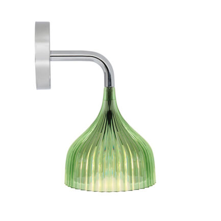 Bedroom wall light E 'di collection Kartell with green pleated diffuser