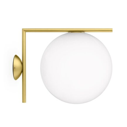 IC C / W2 Wall Lamp by Flos in brass color