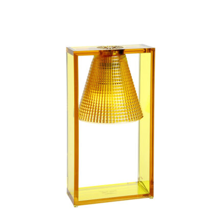 Light-Air bedside lamp by Kartell with amber-colored technopolymer diffuser