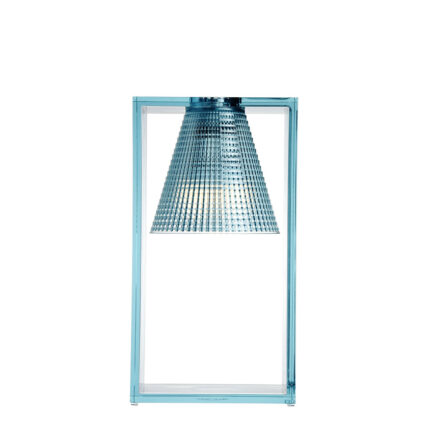 Lampada da comodino Light-Air di Kartell con diffusore in tecnopolimero color azzurro