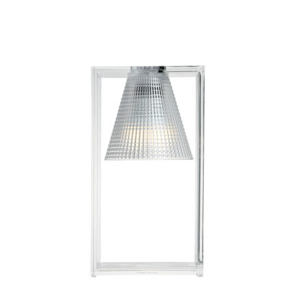 Light-Air bedside lamp by Kartell with transparent technopolymer diffuser