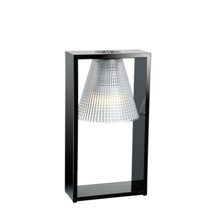 Light-Air bedside lamp by Kartell with black and crystal technopolymer diffuser