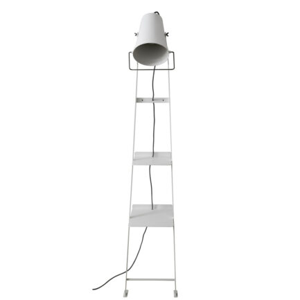Alfred floor lamp with side table by Karman in white color