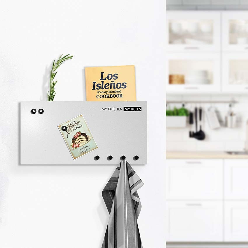 Designobject Magnetic board My KITCHEN towel hanger