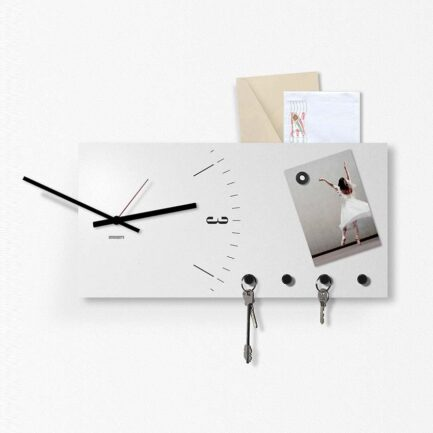 Designobject magnetic whiteboard Clock & More