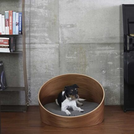 Bed for dogs and cats COVO walnut