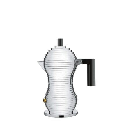 Pulcina coffee maker by Alessi with black details
