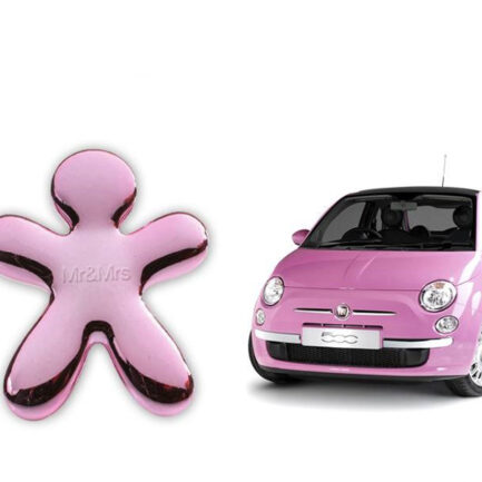 Glossy pink Niki car air freshener by Mr&Mrs Fragrance