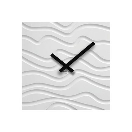 DESERT wooden wall clock by RexArtis in white color