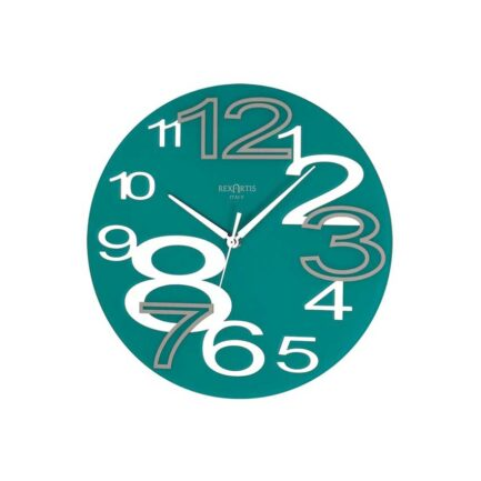 YOUNG glass wall clock by RexArtis in blue color