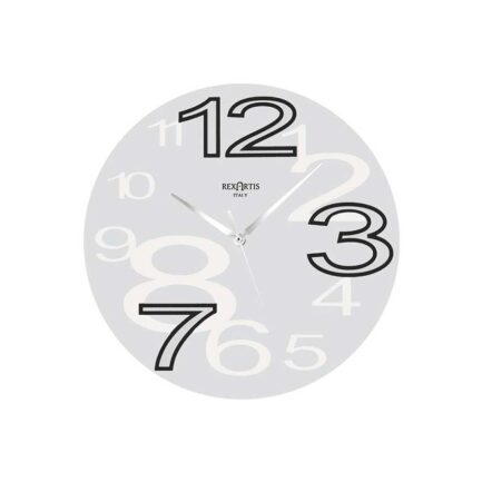 YOUNG glass wall clock by RexArtis in white color