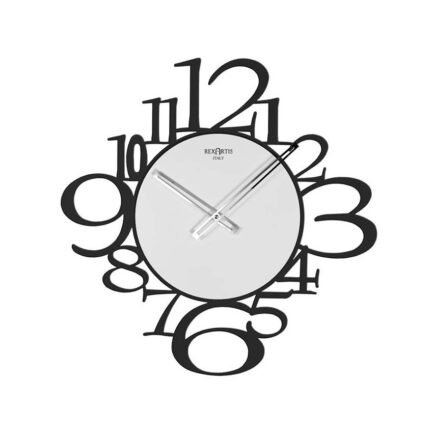 Reloj de pared moderno IRON by RexArtis en negro