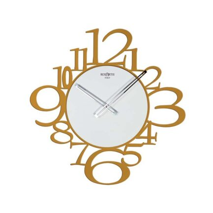 Reloj de pared moderno IRON by RexArtis en color amarillo