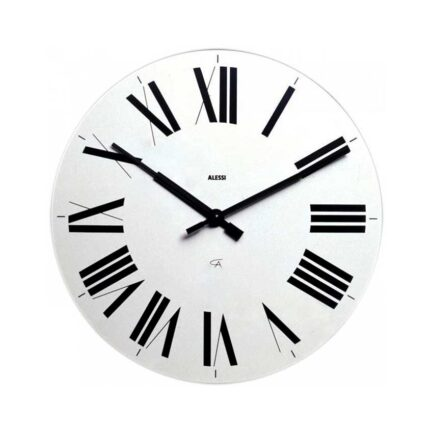 Wall clock alessi Firenze model in white color