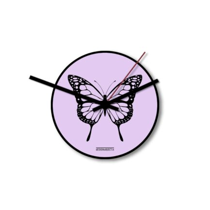 Designobject Wall clock BUTTERFLY