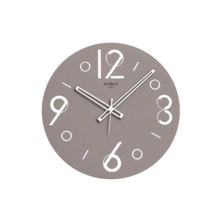 Point glass wall clock by Rexartis in dark dove color