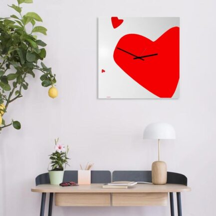 wall clock with hearts of Designobject