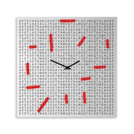 Designobject CROSSWORD wall clock