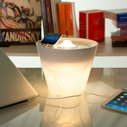 Multipot + table lamps by Rotaliana with rgb led