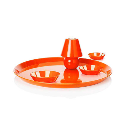 Tray with Snacklight light by Fatboy in orange color