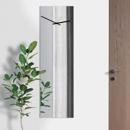 vertical mirror wall clock Designobject