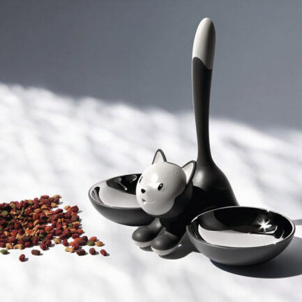 Tigrito cat bowl by Alessi in black