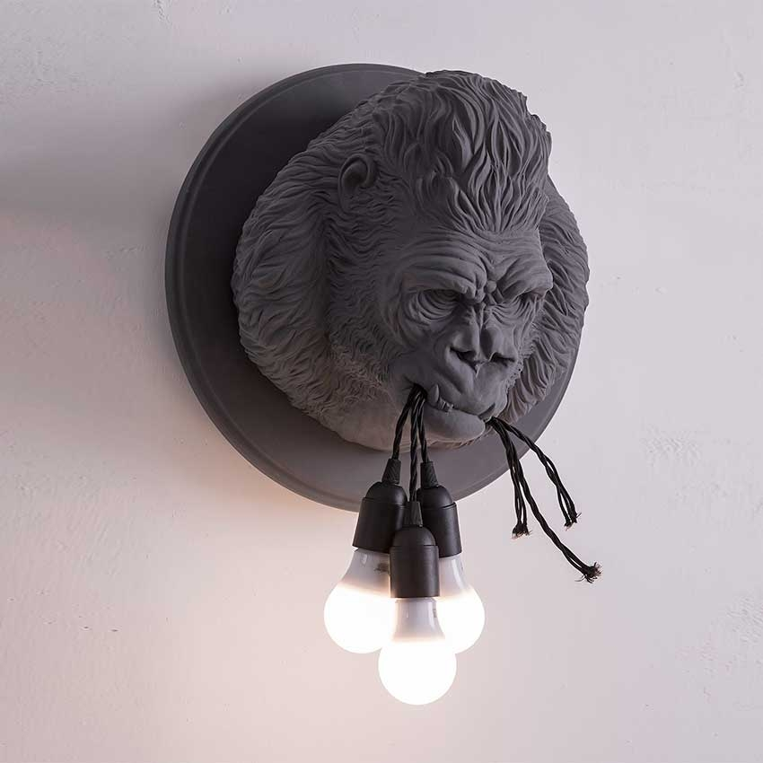 lamps in the shape of Ugorilla animals Karman