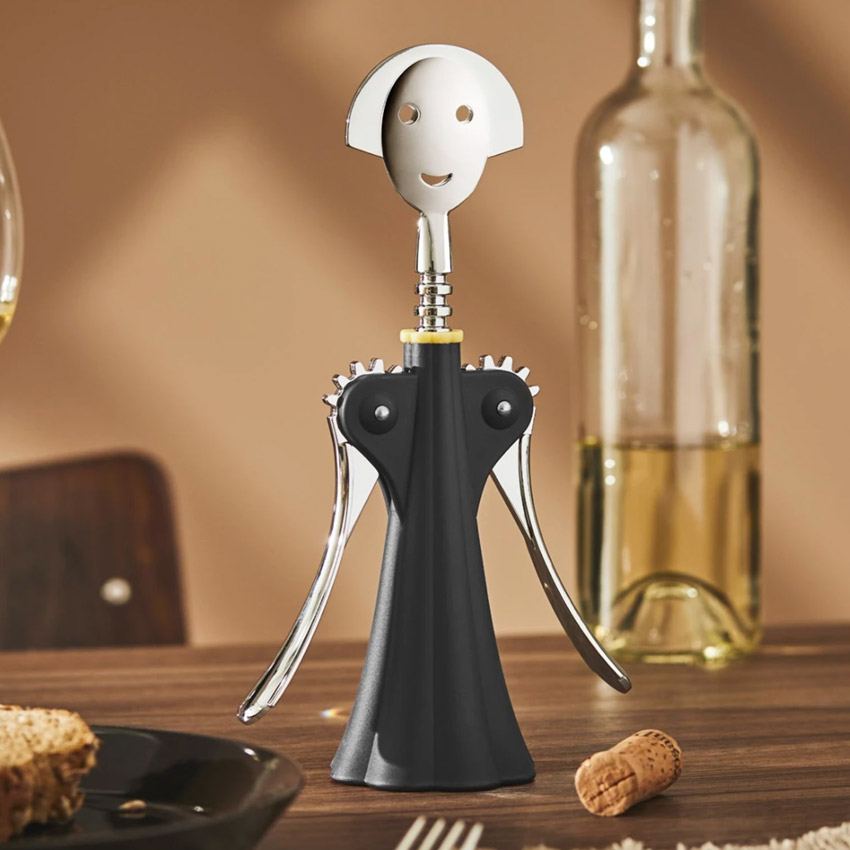 corkscrews, bottle openers and caps