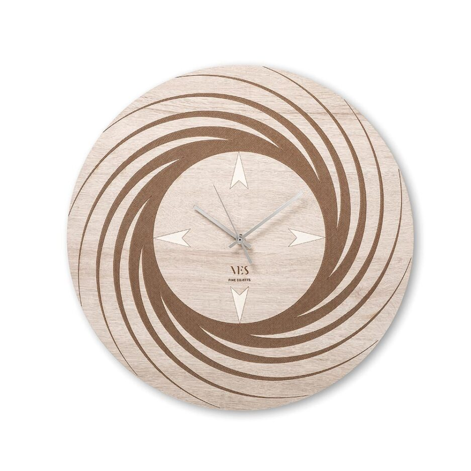 Aria wooden wall clock by Ves Design