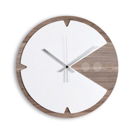 Pac-Time wooden wall clock with Krion K-Life
