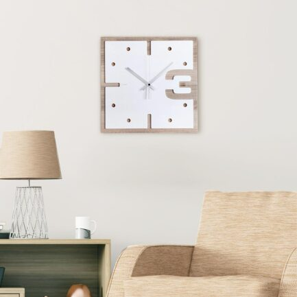 Three di wooden wall clock Ves Design