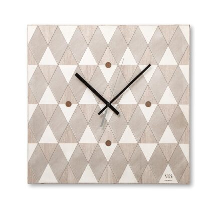 Vichy square wall clock by Ves Design