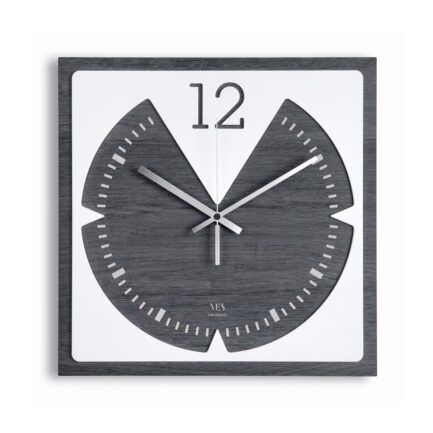 dark wood wall clock