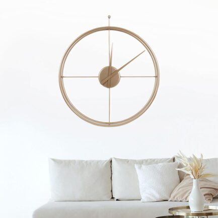 large wall clock Essential Big by Ceart in metallic gold color