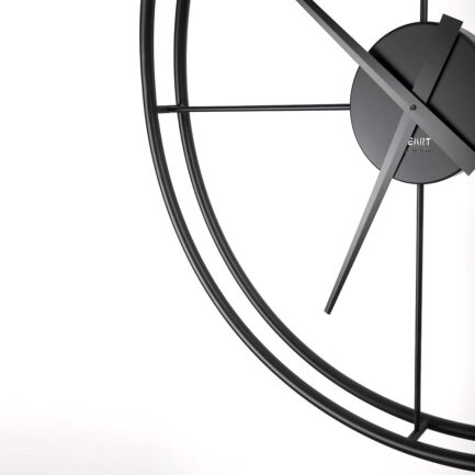 Particular large wall clock Essenziale Big by Ceart in black
