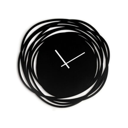 Black Sketch wall clock made by the company I Details