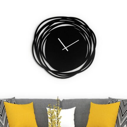 Sketch wall clock made by the company I Details in black color